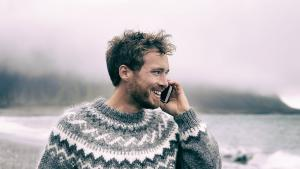 Image of a man talking on the phone